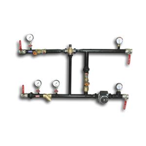 Узлы регулирования теплоносителя, для воздухонагревателей